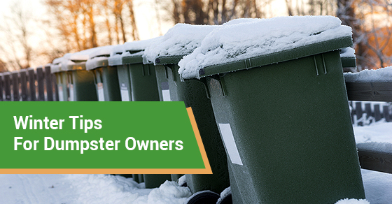Winter Tips For Dumpster Owners
